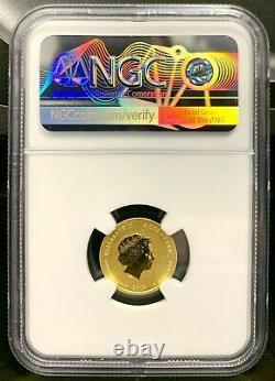 2019 Australie 15 $ Année Lunaire Du Cochon Colorisé 1/10 Oz Gold Coin Ngc Ms 70
