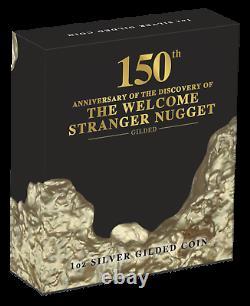 2019 Australie Bienvenue Étranger Gold Nugget 24k Dore De La Silver $ 1 Coin
