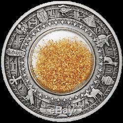 2019 Egypte Trésors D'or De L'ancienne 2 Onces D'argent Antiqued $ Pièce De 2 Ngc Ms 70 Fr