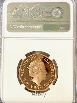 2019 Royaume-uni Sherlock Holmes 2019 Royaume-uni 50p 50 Pence Gold Proof Coin Ngc Pf70 Uc Wow