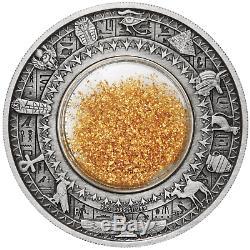 2019 Trésors D'or De L'egypte Ancienne. 2 Onces 9999 Argent $ 2 Antique Coin