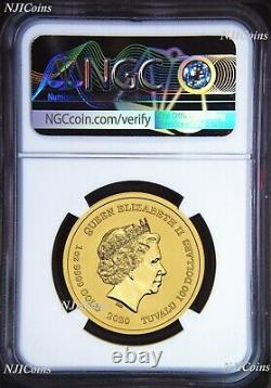 2020 Homer Simpson 100 $ 1 Oz. 9999 Gold Bullion Coin Ngc Ms70 Brown Label