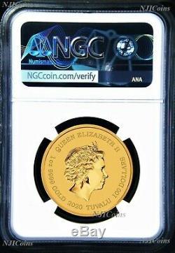 2020 James Bond 007 $ 100 1 Once 9999 Lingots D'or Coin Ngc Ms70 Premières Sorties