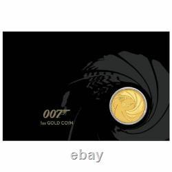 2020 James Bond 007 100 $. 1 Oz 99,99% D'or Amende Seulement 500 Pièces D'or Carte