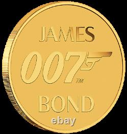 2020 James Bond 007 2 0,5 G$ 9999 Gold Coin Ngc Ms70 Pf70 Brown Label