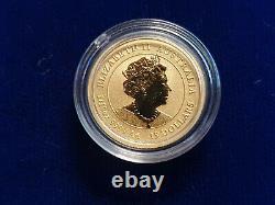 2020 Or 1/10 Oz. 9999 Or Année Lunaire De La Souris Perth Mint Australie Coin