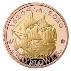 2020 Royal Mint Mayflower £2 Two Pound Gold Proof Coin Pcgs Pr70 Dcam