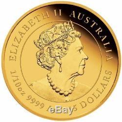 2021 Australie 15 $ Année Lunaire Du Bœuf 1/10 Oz Proof Pièce D'or 2500 Made