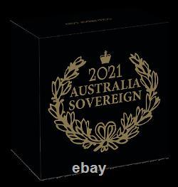 2021 Australie 95 Marque Privée Souverain 1/4 Oz Gold 25 $ Pièce Ngc Pf70 Fr Avec Ogp