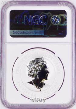 2021 Australie Gilded Silver Lunar Year Of The Ox Ngc Ms 70 1oz Coin Fr Gilt