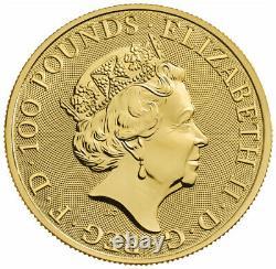 2021 Grande-bretagne Armoiries Royales 1 Oz D'or £100 Coin Gem Bu