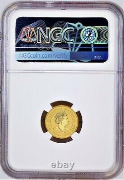 2021 P Australie Bullion Gold 15 $ Année Lunaire Du Ox Ngc Ms70 1/10 Oz Coin Fr