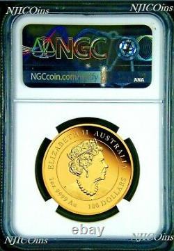 2021 P Australie Proof Gold 100 $ Année Lunaire De L'ox Ngc Pf70 1 Oz Coin Fr