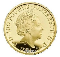 2021 Uk Queen's Beasts Completer £100 1oz Gold Proof Coin Ngc Pf70uc Fr Présale