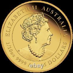 2022 Australien Lunar Année Du Tigre 1/10 Oz Gold Proof 15 $ Pièce Nouvelle Série-3