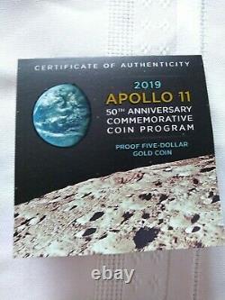 Apollo 11 Pièce D'or Du 50e Anniversaire