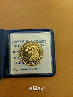 Australian $ 200 Mariage Royal Pièce Commémorative 1981 Diana Or 22 Carats Unc