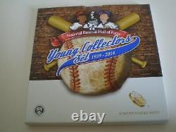 Baseball Hof 2014 Complete 7 Coin Collection-gold, Silver, Clad & Young Collector