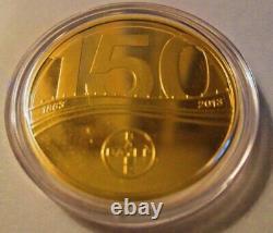 Bayer 150 Ans Anniversaire Commémorative 585 Or 415 Argent 7,25g Pièce Avec Livre