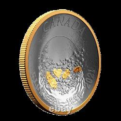 Canada 1 Oz Argent $25 Dollars Concave Coin, Klondike Gold Rush, 2021