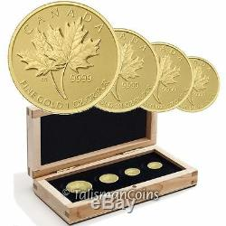 Canada 2013 Or Pur Maple Leaf 4 Coin Gml Fractional Set 600 Mintage