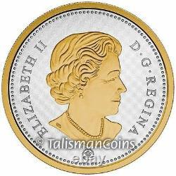 Canada 2015 Big Coins Series Beaver 5 Cent 5 Oz Argent Or Plaqué Nickel En Ogp