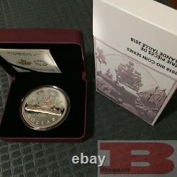 Canada Big Coin Series 2018 #1 Voyageur 1 5 Oz Argent Pur Avec Dollar D'or Rose