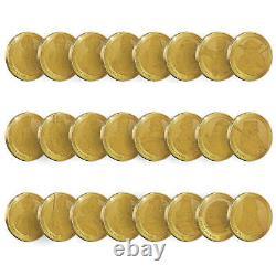 Disney Star Wars Commemorative Collector's Gold Coin (set Of 24) Yoda Dark Vador