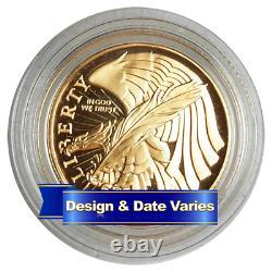 États-unis $5 Gold Commémoratif Aléatoire Année Preuve Ou Non Circulé