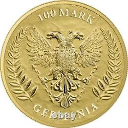 Germania 2020 Bu 5 Mark 1 Oz Pure Gold. 9999 Boîte À Monnaie Ronde Et Coa