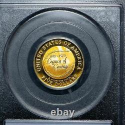 Gold 1997-w $5 Jackie Robinson Pièce Commémorative Pcgs Pr69 Dcam 1/4 Oz Proof
