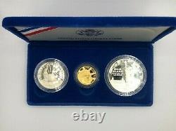 Gold Coin États-unis Liberty Coins 1886 1986 3 Pièce Proof Set With Case