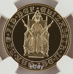 Grande-bretagne 1989 Preuve Or Souverain Monnaie Ngc Pf70 500ème Anniversaire Date Key