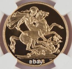 Grande-bretagne Royaume-uni 1988 2 Livre/souverain 0,47 Oz Agw Gold Proof Coin Ngc Pf69 Uc