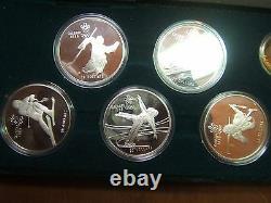 Jeux Olympiques Canadiens De 1988 11 Pièces D'or Et D'argent Set Original Case