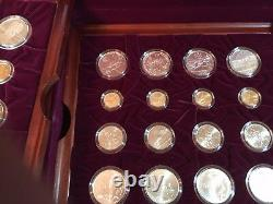 Jeux Olympiques D'atlanta 1995-1996 Or Argent Clad Proof 32 Coin Set Commémoratif