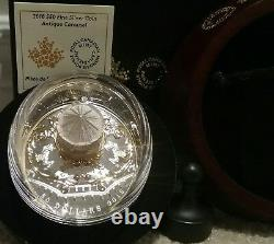 L'aco N°3. 2018 Antique Carousel $50 6oz Pure Silver Gold-plated Proof Coin Canada