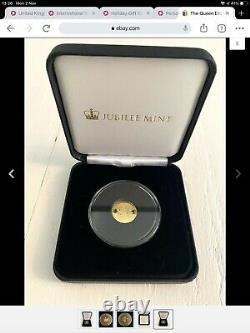 La Reine Elizabeth II Le Plus Long Monarque Régnant Solid Gold Coin 9ct