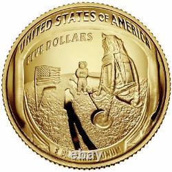 Low Population 2019 Gold $5 Cérémonie De Lancement De Pièce Signée Par Apollo 13 Fred Haise