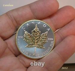 Maple Leaf Gilded Two Side 24k Gold Bullion Coin 2012 & 2013