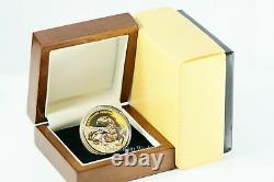 Nioué 100 $ Remarquable 2017 Reptiles Australian Goanna 5 1 Oz Proof Gold Coin