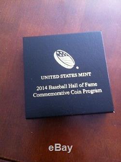 Nouveau 2014 W National Baseball Hall Of Fame D'or Proof Pièce De 5 $ (b31) Hof Us Mint