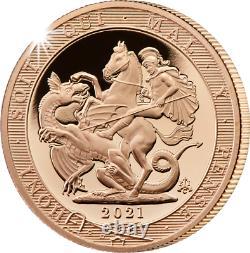 Pièce De Monnaie Sovereign Gold Proof 2021