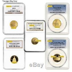 Prix de Vente Us Mint Or 5 $ Pièce Commémorative Ngc / Pcgs Ms / Pf 70 Aléatoire Année