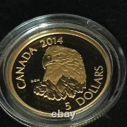 Pure Gold And Platinum Coins Bald Eagle Mintage 3000 (2014)