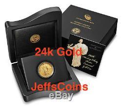 Quartier Permanent Liberty 2016 Centennial Gold Coin. 9999 Fin 1916 24karat 16xc