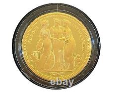 Rare Three Graces 2 Once Gold Great Engravers Royal Mint Proof Coin, In Hand