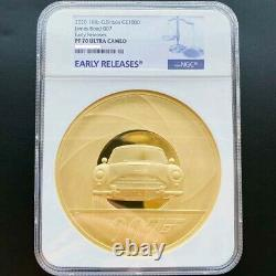 Royaume-uni 2020 Grande-bretagne James Bond Special Edition 1kg Gold Proof Coin Ngc Pf70 Uc