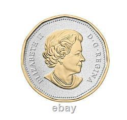 Série De Grosses Pièces Canada 2015 De 6 Pièces D'argent Pur Avec Placage D'or