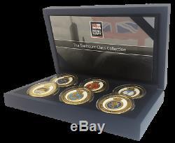 Souvenirs Royal Navy Gold Coin / Médaille Swiftsure Classe Sous-marine Coffret